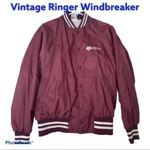 Vintage Ringer Bomber Lightweight Jacket NASA L